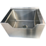 Advance Tabco 9OP48DF Mop Sink Floor Mount Drop Front 33 Length x 2212 Deep with Faucet Hose and Hanger Shelf