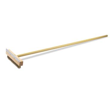 Browne USA 100B Brush Oven 36 brass wire bristles steel scraper solid wood block